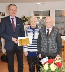 Alfons und Monika Plener feierten das Fest der diamantenen Hochzeit