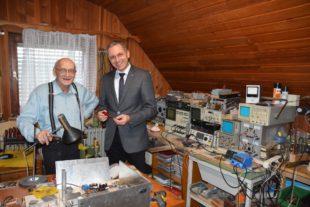 Eberhard Heilmann ist mit 95 Jahren noch aktiver Amateurfunker