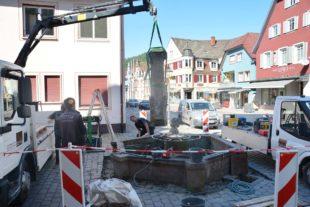 Stadtbrunnen wird denkmalgerecht saniert