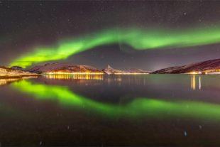Fotograf auf der Jagd nach Polarlichtern