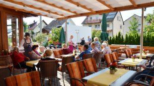 Schönes Ambiente auf der Terrasse des Hotels »Klosterbräustuben«