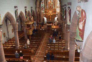 Erster Gottesdienst während der Corona