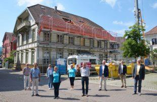 Die Sanierung der Sozialstation soll bis Dezember fertig sein