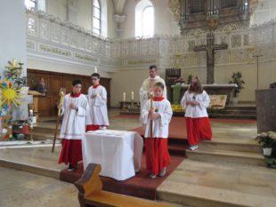 Fronleichnamsfest fand wegen der Witterung in der Kirche statt