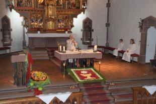 Fronleichnamsfest in Nordrach fand nur in der Pfarrkirche statt