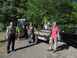 Instandsetzungstour für Wanderwege auf beiden Seiten der Kinzig