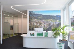 AOK in neuen Räumen im Geschäftshaus Scheid