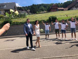 DJK Prinzbach steht Spalier für David Beck und Julia Faisst
