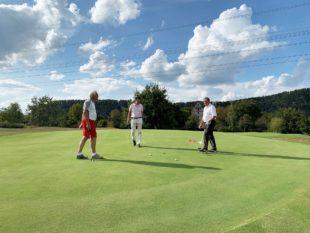 Eine Runde Golf mit Alt-Bundeskanzler Gerhard Schröder
