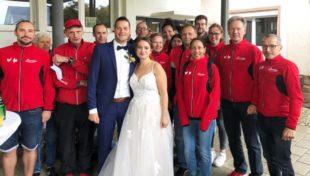 Läufer der LG Brandenkopf gratulierten Romina Günther und Stefan Kienzle
