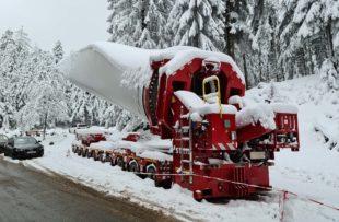Auf dem Weg zur Winterbaustelle