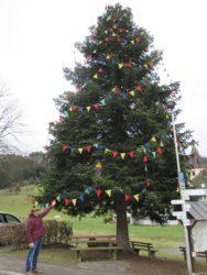 Fasnachtsbaum in Prinzbach