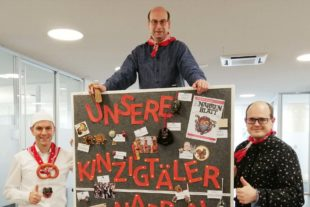 2021-2-12-ZE-Sparkasse- Spendenaktion Fasend Carlo Carosi (von links), Martin Seidel und Sebastian Lebek