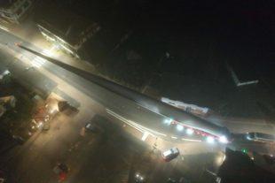 Selbstfahrer transportiert endlich wieder Windflügel zum Hohenlochen
