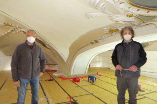 Renovierung des Chorbogens fast abgeschlossen