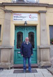 Gut angekommen an der Annenkirche in Eisenach