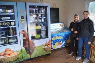 Hofprodukte, Bauernhof-Eis und Milch direkt vom Automaten