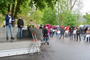 Montagsspaziergänger fordern Grundrechte zurück