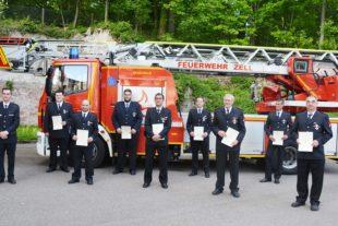 Ehrungen und Beförderungen bei der Freiwilligen Feuerwehr Zell a.H.