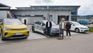 Erste öffentliche E-Ladestation in Biberach beim Autohaus Allgeier