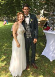 Matthias Lehmann und Adina Leser im siebten Hochzeitshimmel