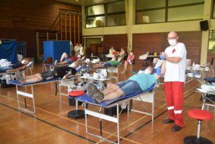 Elfter Blutspendetermin in der Hansjakob-Halle Nordrach