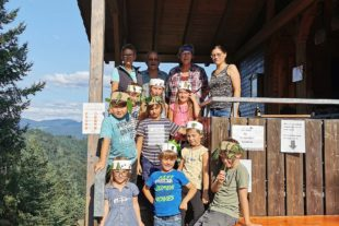 Spielen an der Kuhhornkopfhütte