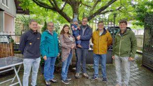 Spielmannszug Oberharmersbach gratuliert mit Musik zur Geburt
