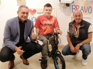 Paralympics-Feier für Moritz Möbius