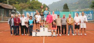 Bei den Clubmeisterschaften des  Zeller Tennisclubs gab es nur Sieger
