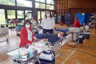 Zwölfter Blutspendentermin in der Hansjakob-Halle Nordrach
