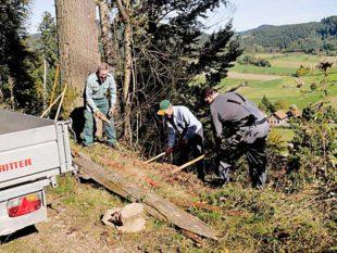 Schwarzwaldverein im Einsatz für freie Wege und neue Bänke